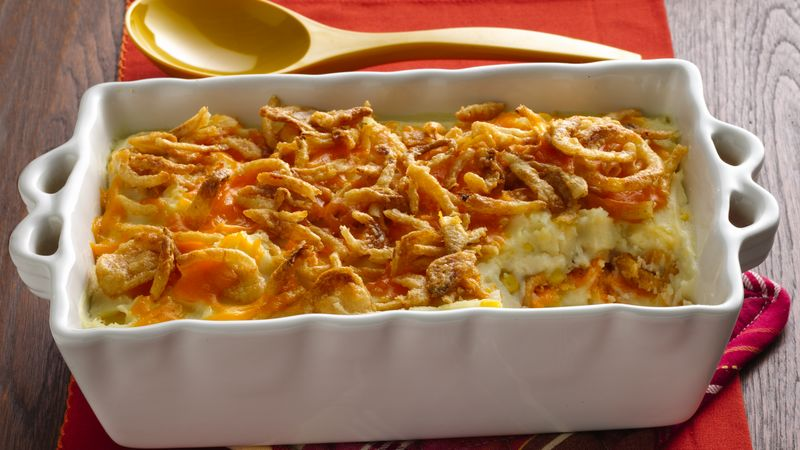 Crunchy Onion Potato Bake