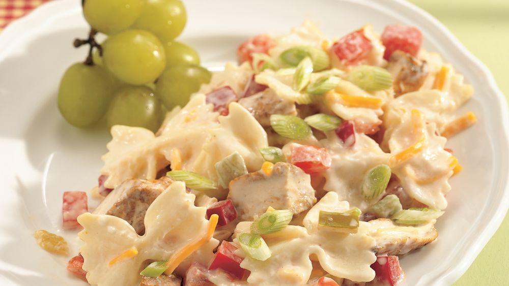 Spicy Chicken and Bow Tie Pasta Salad