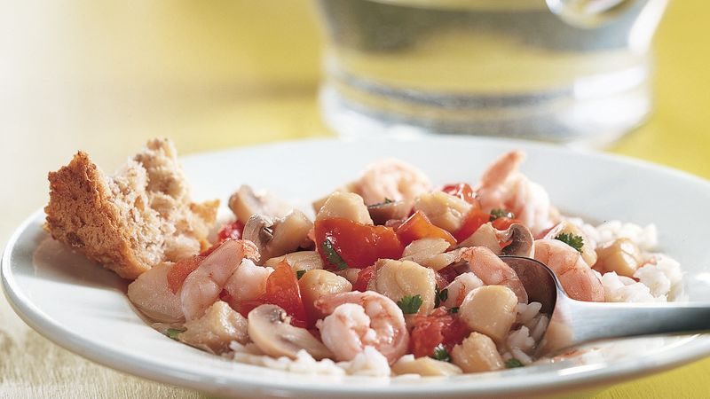 Seafood and Vegetables with Rice