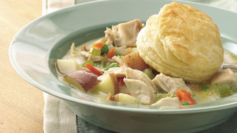 Chicken-Vegetable Pot Pie Soup