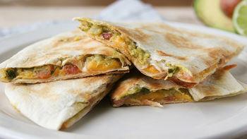 Bacon-Guacamole Quesadillas