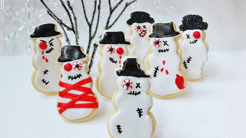 Zombie Snowman Sugar Cookies