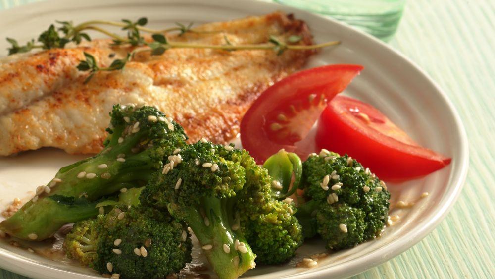 Sesame Buttered Broccoli