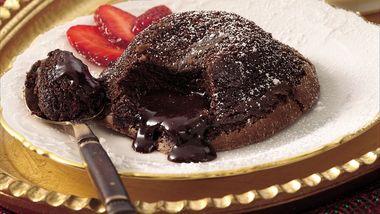 Saucy Center Chocolate Cakes