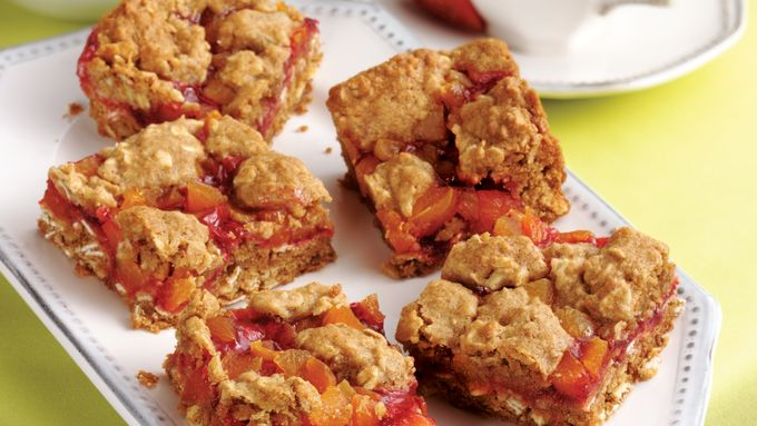 Strawberry-Apricot-Oat Squares