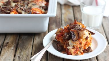 Easy Sausage Pizza Bake