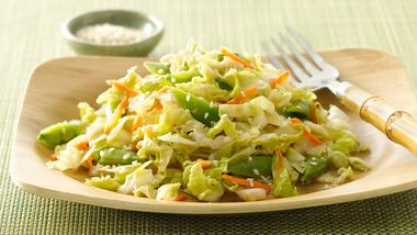 Gluten-Free Sugar Snap Pea Salad with Ginger Dressing