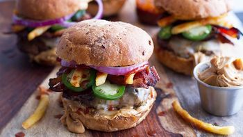 Spicy Peanut Butter Bacon Sliders