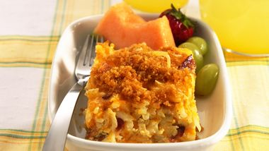 Bacon and Hash Brown Egg Bake recipe from Betty Crocker