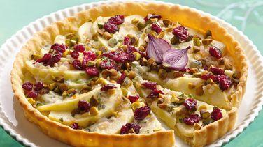Tarta de Manzana y Queso Tipo Roquefort