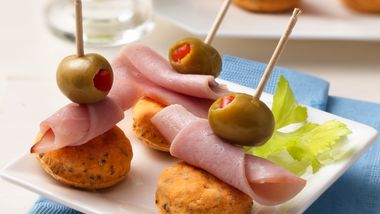 Olive and Ham Appetizer Stacks