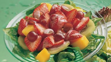 Fruit Salad with Strawberry-Poppy Seed Vinaigrette