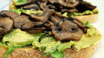 Roasted Portabella Mushroom and Avocado Open-Face Sandwiches