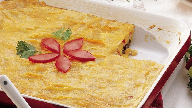 Black Bean and Corn Enchilada Egg Bake