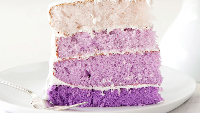 Purple Ombre Layer Cake