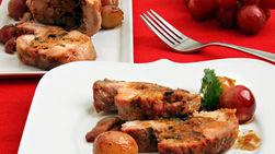 Lomo de Cerdo Relleno en Salsa de Uvas