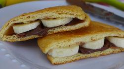 Panini de Banana y Pasta de Chocolate y Avellana