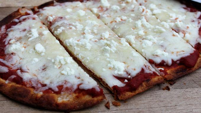 Four Cheese Flatbread Pizzas