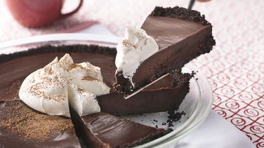 Chocolate Cookie Truffle Pie