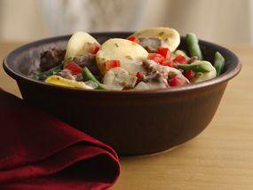 Beef and Potatoes Skillet Stroganoff