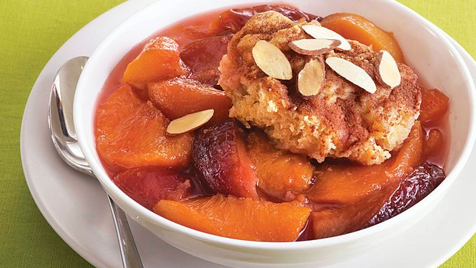 Peach-Plum Cobbler