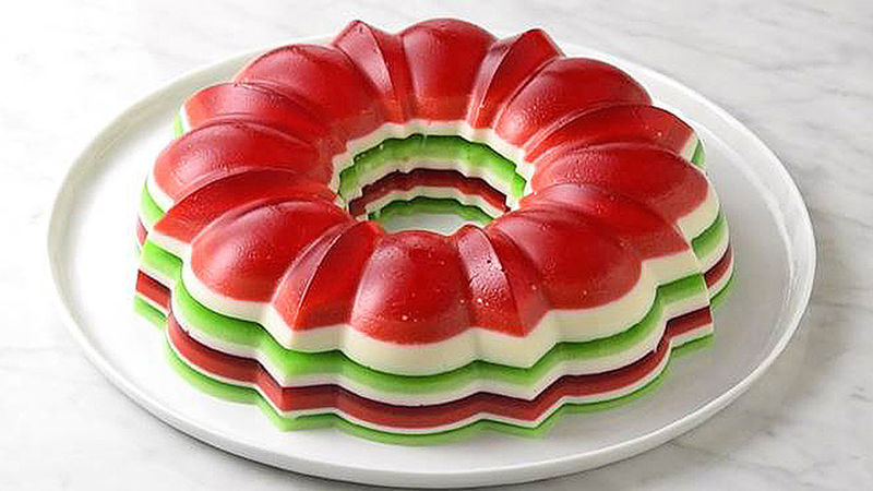 christmas jello salad ring recipe from tablespoon. Black Bedroom Furniture Sets. Home Design Ideas