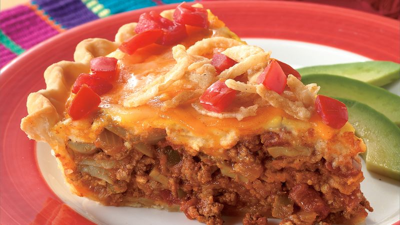 Cheese-Topped Taco Pie