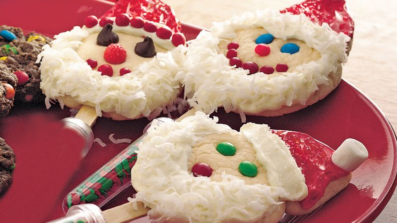 Santa-on-a-Stick Cookies