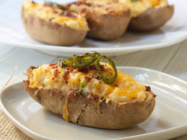 Jalapeño Popper Twice-Baked Potatoes