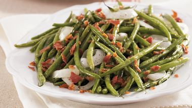 Roasted Green Beans with Pancetta