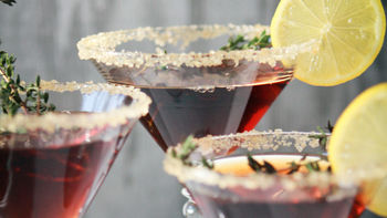 Lemon-Tea-Thyme Martinis