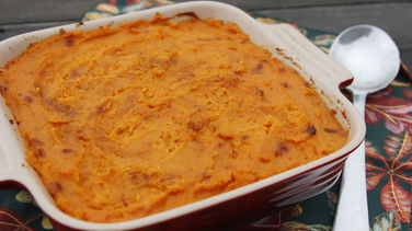 Baked Sweet Potato with Rum