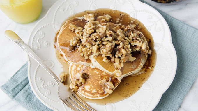 Maple Walnut Pancakes
