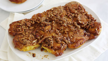 Pumpkin and Brown Butter Streusel Sticky Buns
