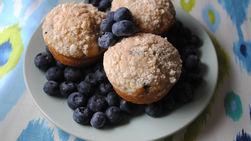 Whole Grain Blueberry Breakfast Muffins
