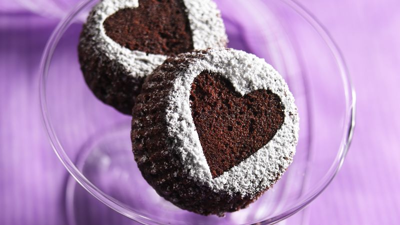 Heart Brownie Cupcakes