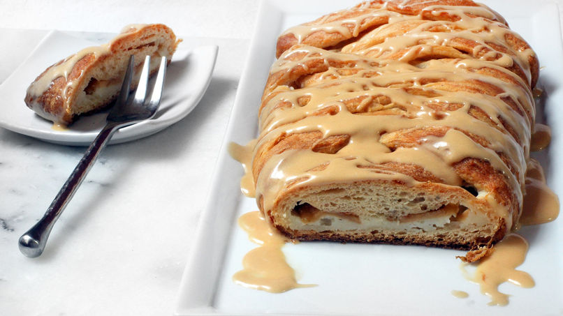 Tarta Danesa de Chips de Manzana y Dulce de Leche