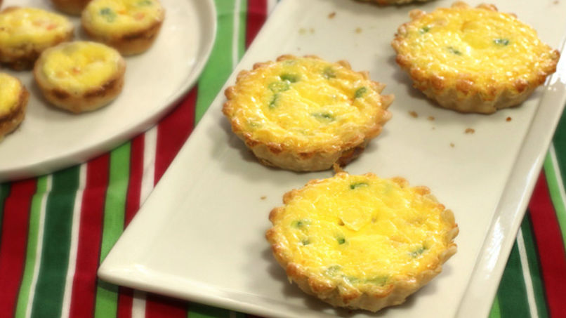 Shrimp and Cheese Mini Quiches
