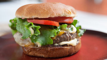 Grilled Cheeseburgers with Cheese Sauce
