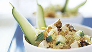 Skinny Chutney Chicken Salad with Couscous