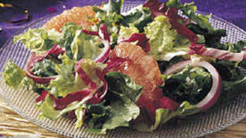Tossed Greens with Grapefruit Vinaigrette