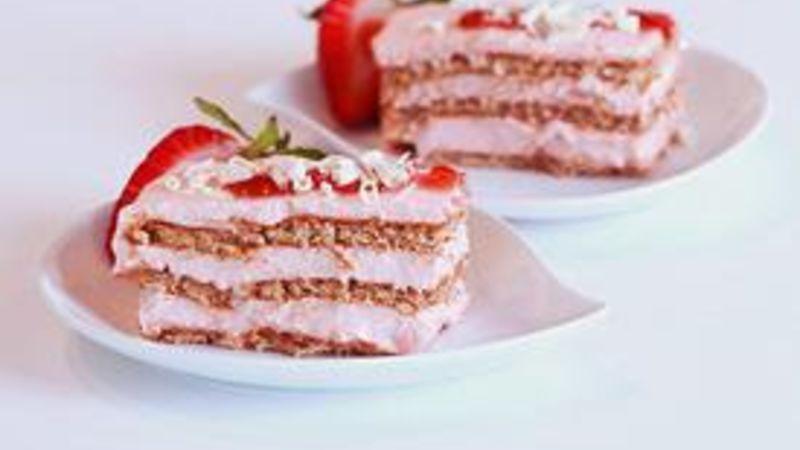 Strawberry Ice Box Cake