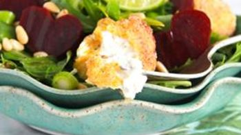 Fried Goat Cheese and Roasted Beet Salad