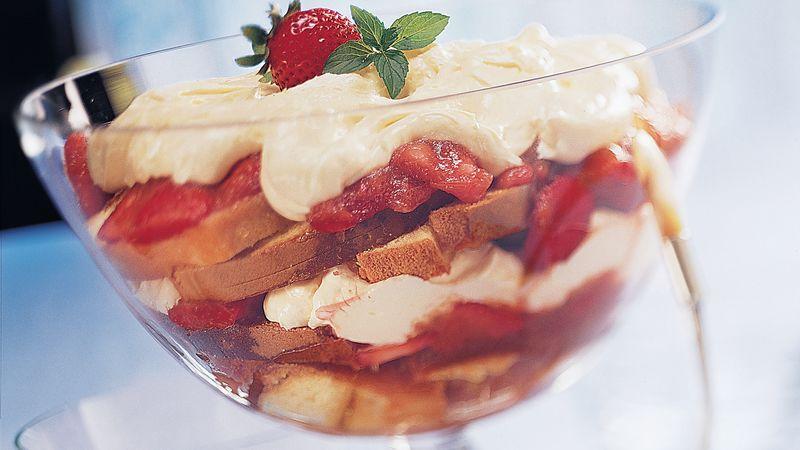 Strawberry-Rhubarb Trifle