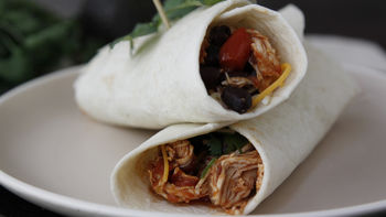 Slow-Cooker Mexican Chicken Burritos