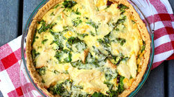 Chicken and Kale Tart