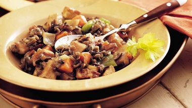 Slow-Cooker Herbed Turkey and Wild Rice Casserole (Cooking for 2)
