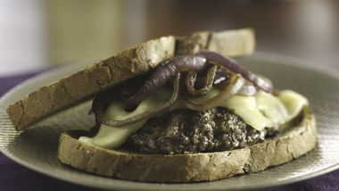 Grilled Patty Melts with Smothered Onions