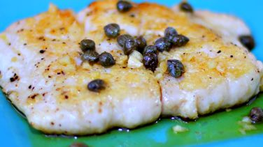 Sea Bass in Caper Sauce