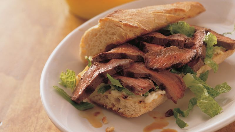 London Broil Sandwiches with Lemon Mayonnaise